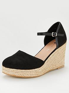 4915087bd2b5 V by Very Pollyann Closed Toe Wedge - Black