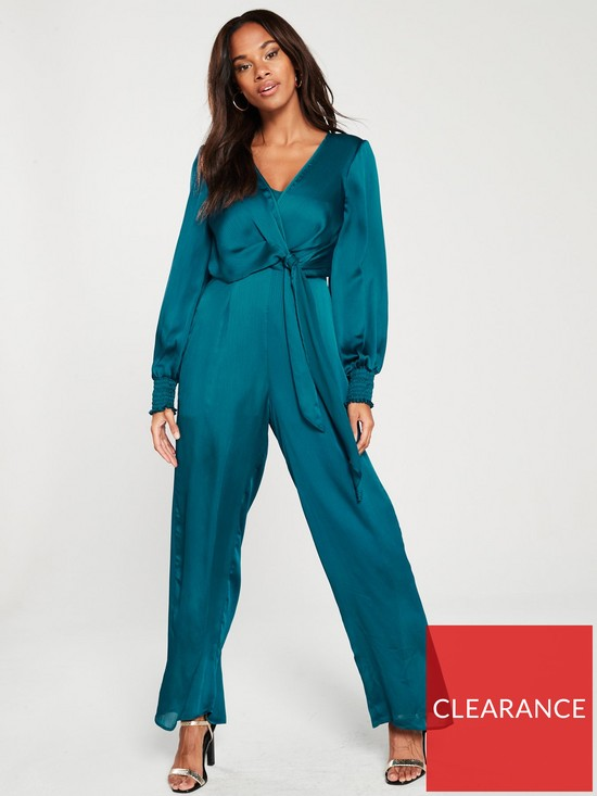6d11539b3a8 River Island Long Sleeved Jumpsuit- Teal