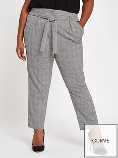 ri-plus-checked-tapered-trousers--grey