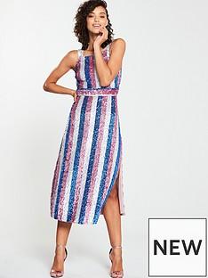 v-by-very-striped-sequin-midi-dress-multi