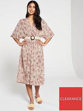 v-by-very-shirred-waist-wrap-casual-kimono-dress-print