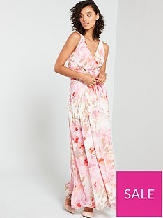 v-by-very-cross-front-waist-detail-printed-maxi-print