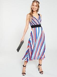 v-by-very-pleated-rainbow-midi-dress-multi