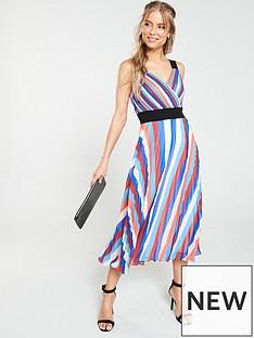 v-by-very-pleated-rainbow-midi-dress-multi