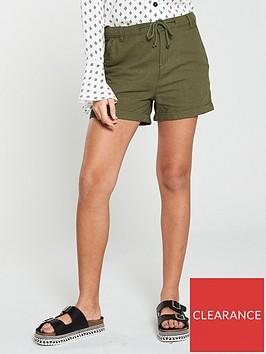 v-by-very-linen-mix-shorts-ndash-khaki