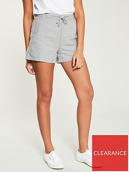 v-by-very-linen-mix-shorts-grey