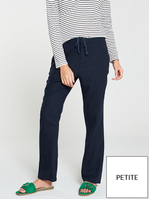 how to get new items buy sale Short Linen Mix Trousers - Navy