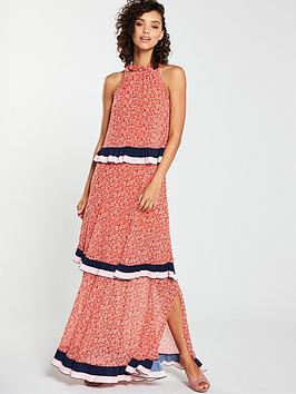 v-by-very-tiered-chain-maxi-dress-print