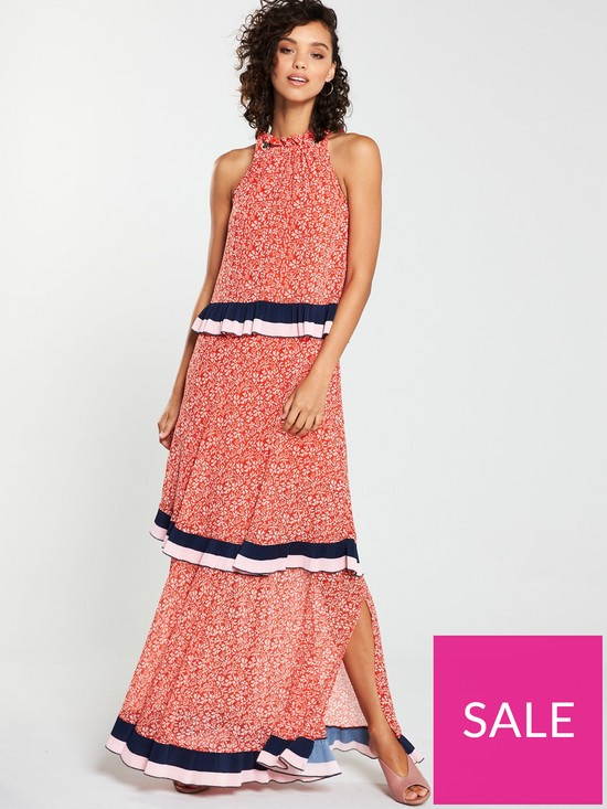 3564abbd0d56 V by Very Tiered Chain Maxi Dress - Print | very.co.uk