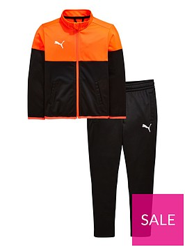 puma-junior-football-tracksuit-blackred