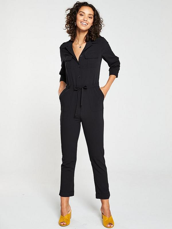 uk availability modern design new design Utility Jumpsuit - Black