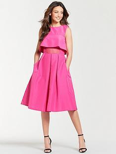 michelle-keegan-mesh-panel-prom-dress-fuchsia