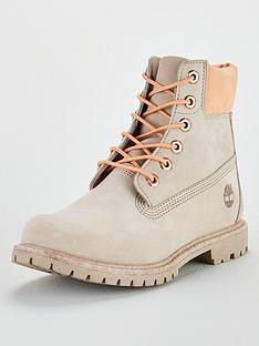a8ac7e3f98 Timberland Premium 6in Lace Up Premium Ankle Boots - Tan Orange
