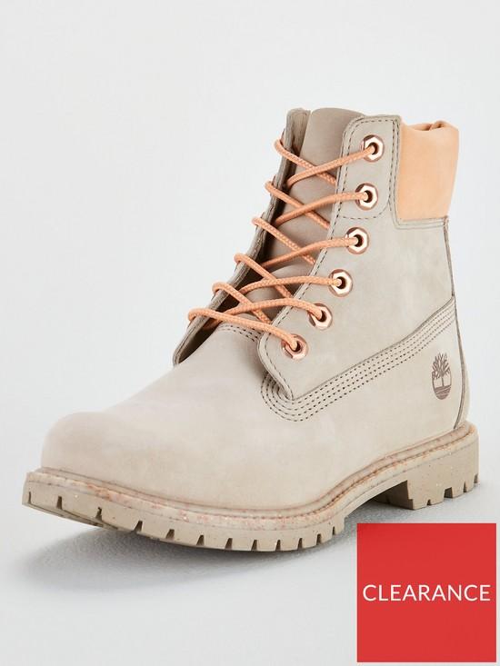 8d7d5137f98 Premium 6in Lace Up Premium Ankle Boots - Tan/Orange
