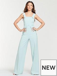 f502f23639 Michelle Keegan Scallop Button Front Jumpsuit - Blue