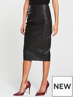 v-by-very-snake-textured-pencil-skirt-blacknbsp