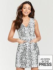 7d07108c8f0 Michelle Keegan PU Pinafore Dress - Snake Print