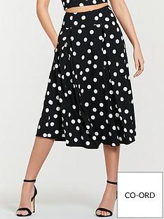 Michelle Keegan Co-ord Printed Prom Skirt - Spot Print 478f09178d