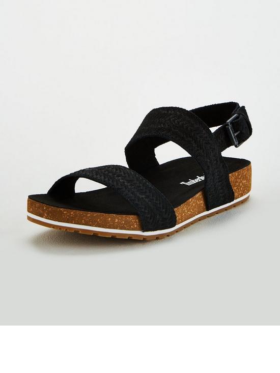 e53aa308359f5 Timberland Malibu Waves Flat Sandals - Black | very.co.uk