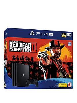 Playstation 4 Pro 1Tb Red Dead Redemption 2 Ps4 Pro Bundle