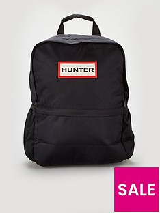 hunter-original-nylon-logo-backpack-black