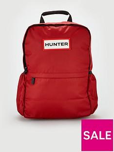 hunter-original-nylon-logo-backpack-red