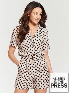 704a89ba549a90 Michelle Keegan Short Sleeve Linen Shirt - Nude Spot