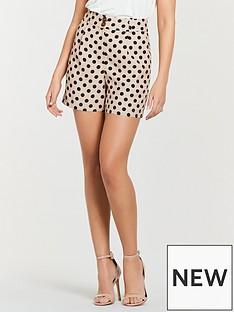 michelle-keegan-printed-linen-shorts-nude-spot
