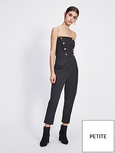 3566bbc0a51 Miss Selfridge Miss Selfridge Petite Black Button Bandeau Jumpsuit