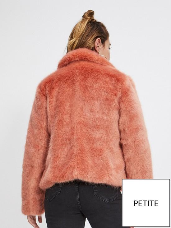 ad40c28b9ce4f ... Miss Selfridge Faux Fur Coat - Pink. View larger