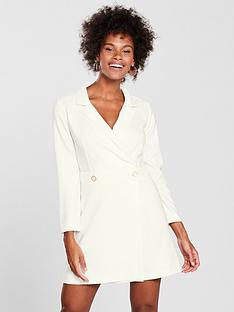 miss-selfridge-miss-selfridge-white-structured-tux-dress