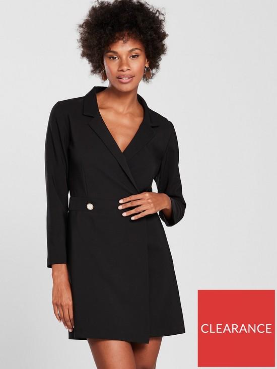 f4e207714d9 Miss Selfridge Miss Selfridge Black Structured Tux Dress
