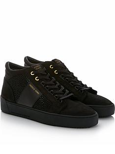 android-homme-propulsion-mid-geo-stingray-suede-trainers-black