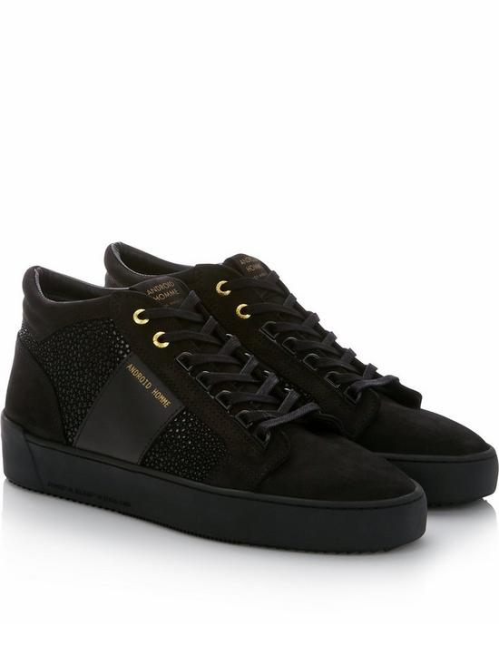 404f28ff9fb ANDROID HOMME Propulsion Mid Geo Stingray Suede Trainers - Black ...