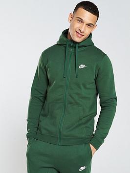 nike-sportswear-club-fleece-full-zip-hoodienbspndash-dark-green