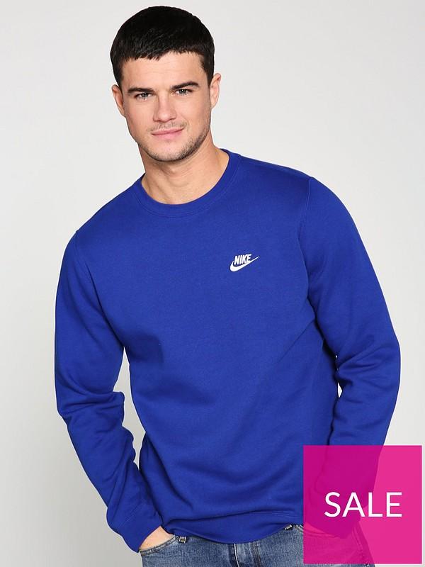 838ef66cb Nike Sportswear Club Fleece Crew Neck Sweat - Indigo | very.co.uk