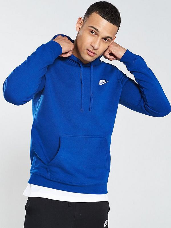 d4912bfdb Nike Sportswear Club Fleece Overhead Hoodie - Indigo | very.co.uk