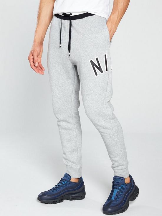 3e91e174f136 Nike Sportswear Air Fleece Joggers - Dark Grey Heather