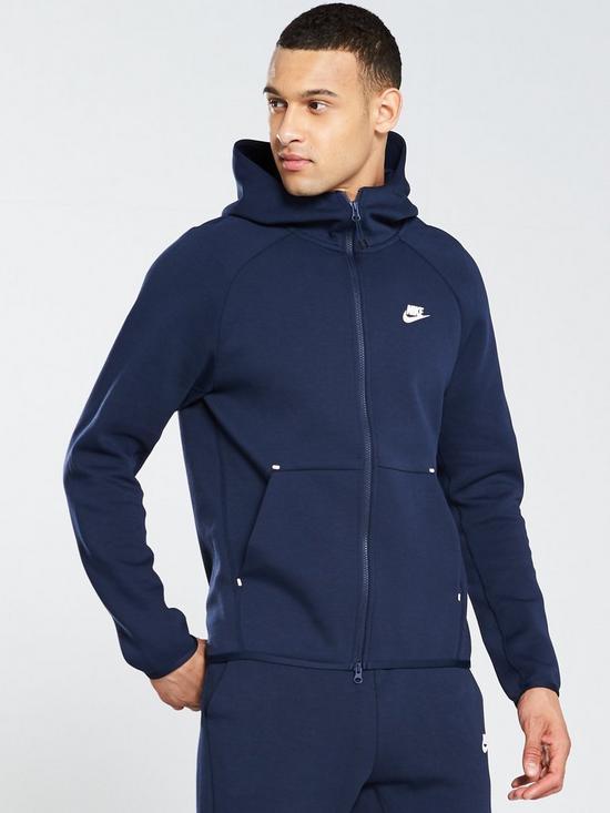 buy popular 5f5c3 48a51 Nike Sportswear Tech Fleece Full Zip Hoodie - Obsidian   very.co.uk