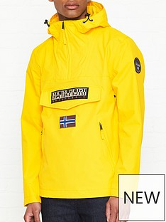 napapijri-rainforest-pocket-anorak-yellow
