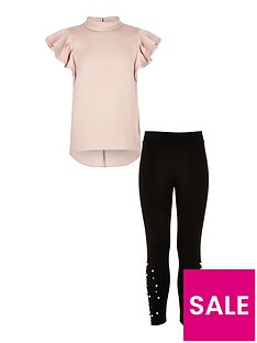 river-island-girls-pink-shell-top-and-pearl-legging-outfit