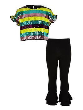 river-island-girls-purple-stripe-sequin-crop-top-outfit