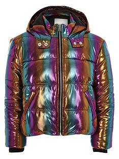 river-island-girls-rainbow-hooded-padded-jacket-blue