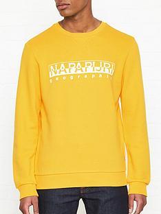 napapijri-bevora-print-sweatshirt-yellow
