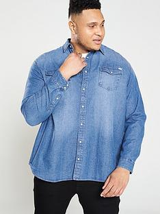 jack-jones-plus-sheridan-denim-shirt-blue