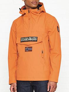 napapijri-rainforest-pocket-anorak-orange