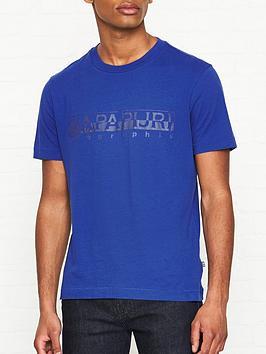 napapijri-sevora-napapijri-print-t-shirt-blue