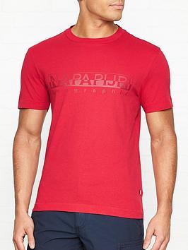 napapijri-sevoranbsplogo-print-t-shirt-red