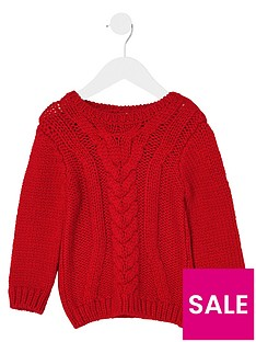 river-island-mini-mini-boys-red-chunky-cable-knit-jumper