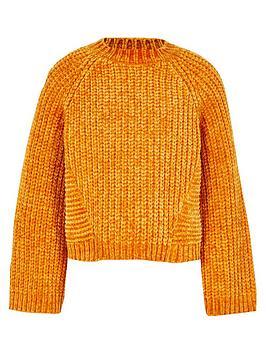 river-island-girls-orange-chenille-knit-jumper
